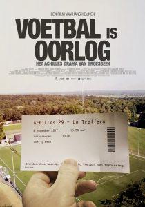 Filmaffiche Voetbal is oorlog van Hans Heijnen